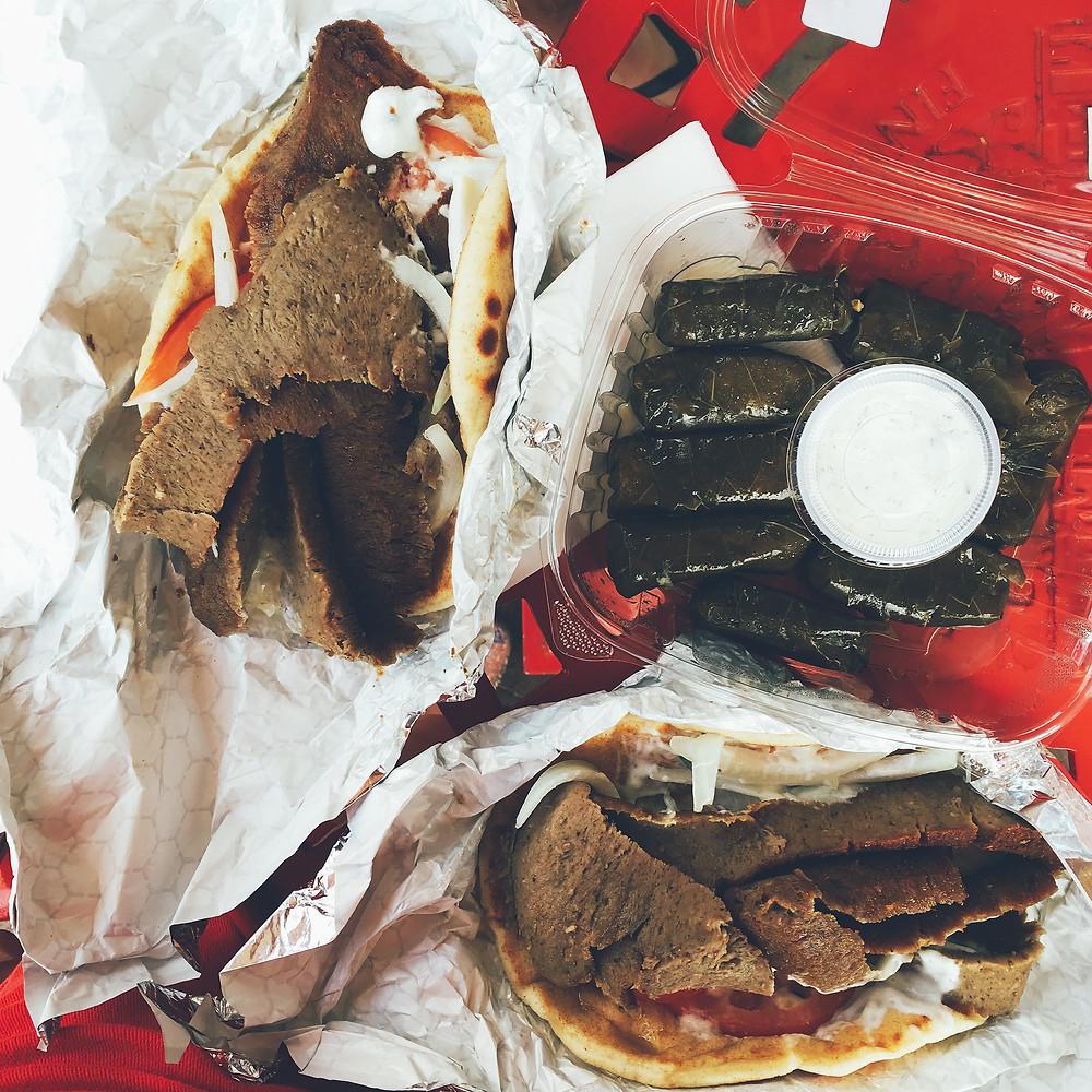 Gyro Sandwiches from Findlay Market, Cincinnati Ohio