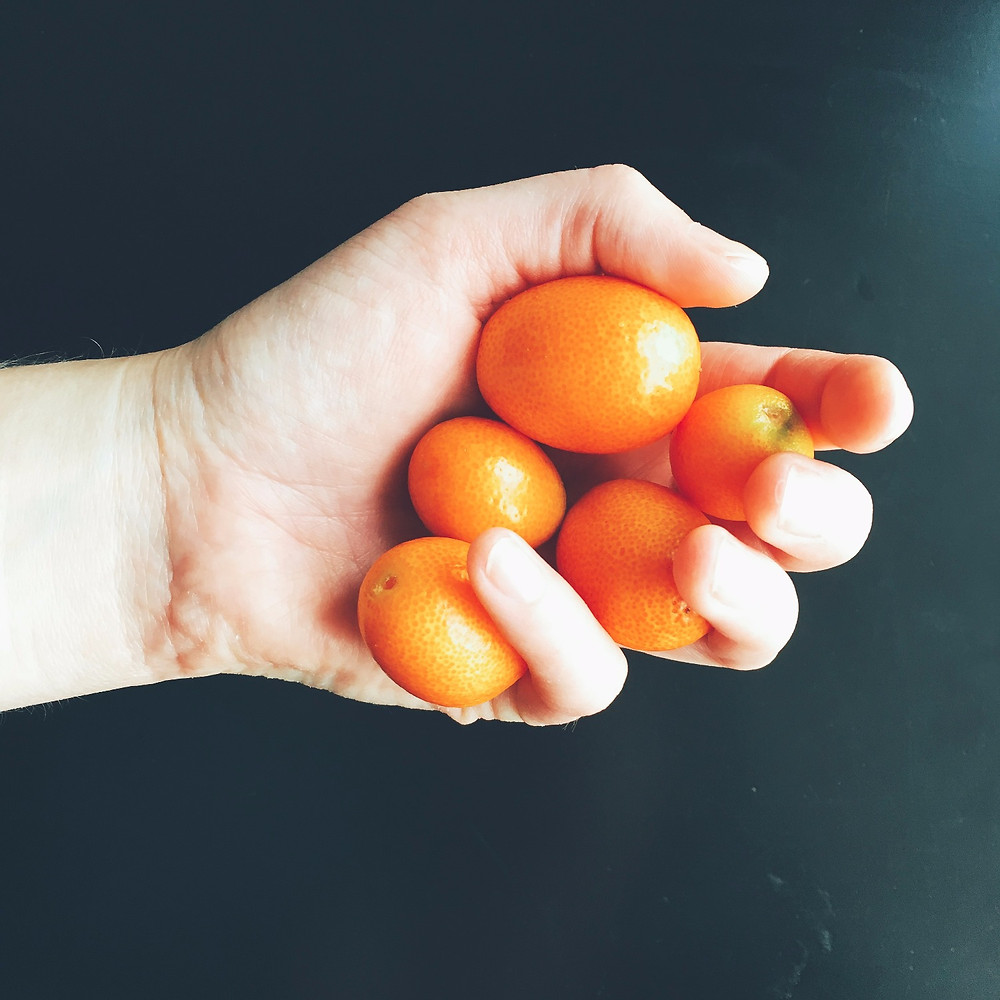 A handful of kumquats