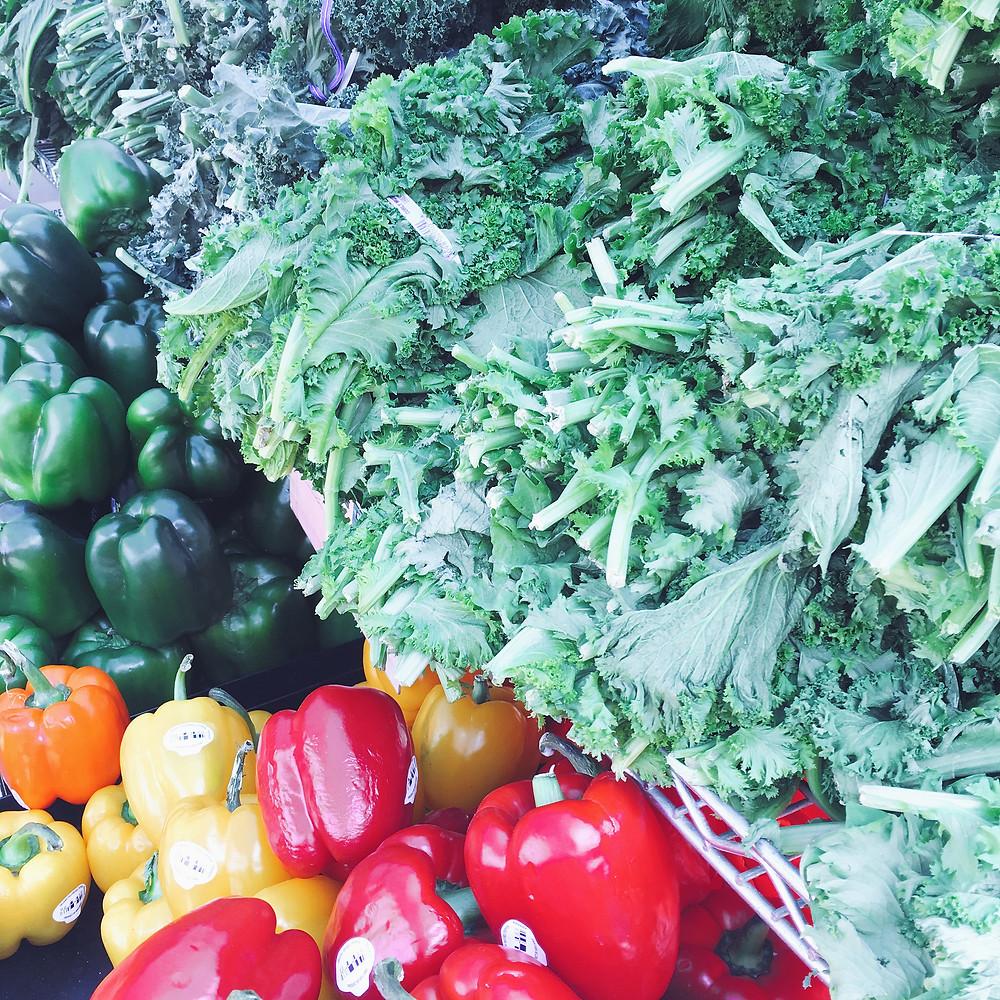Vegetables at Findlay Market, Cincinnati Ohio