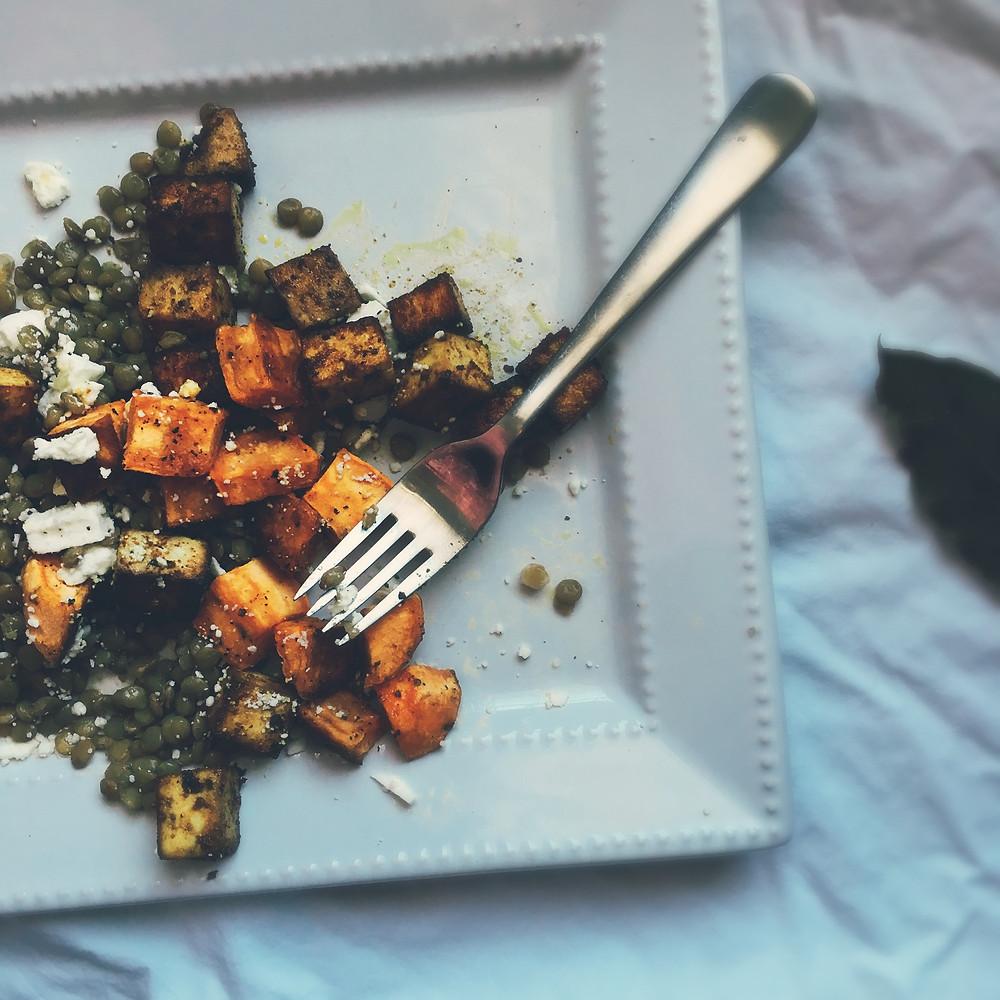 French Lentils with Sweet Potato