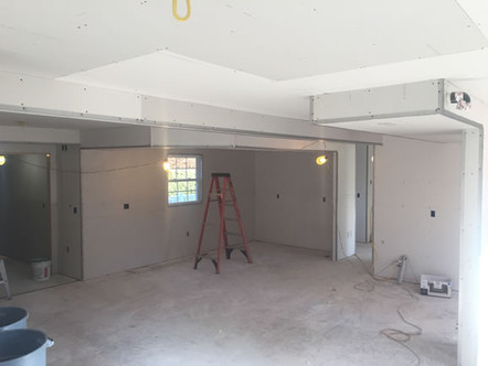 The Drywall was Hung Through the Building with Care…