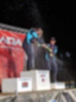 RalyGrl and co driver on the podium, was the only team to finish out of 6 at NEFR 2019 in NA4WD