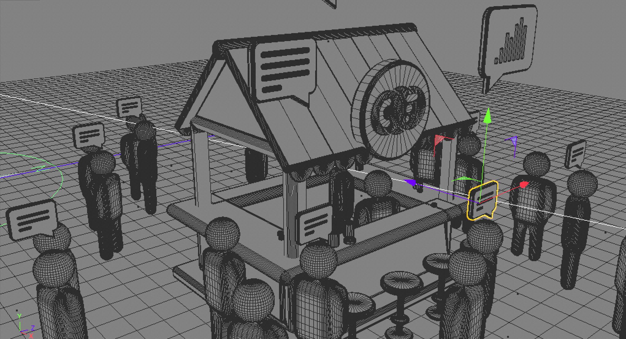 Ilustração Central da Franquia - Making of