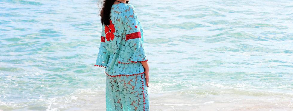 Legzira beach lace trousers