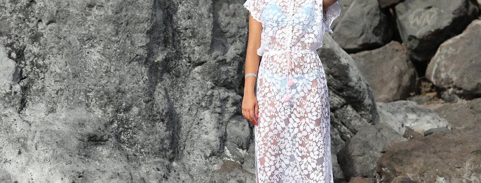 Eivissa lace maxi dress