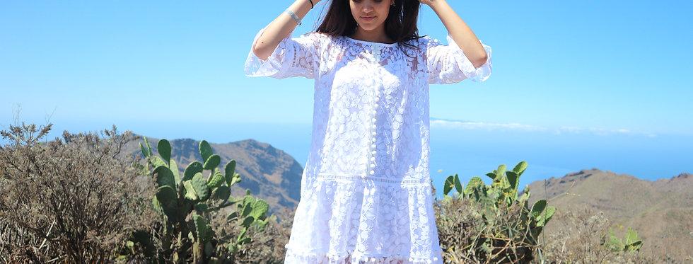 Eivissa lace midi dress