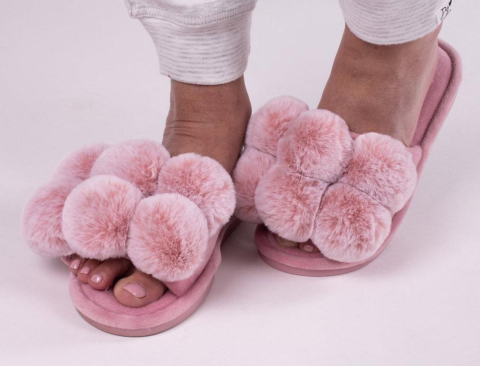 Dolly Pompom Slipper pink