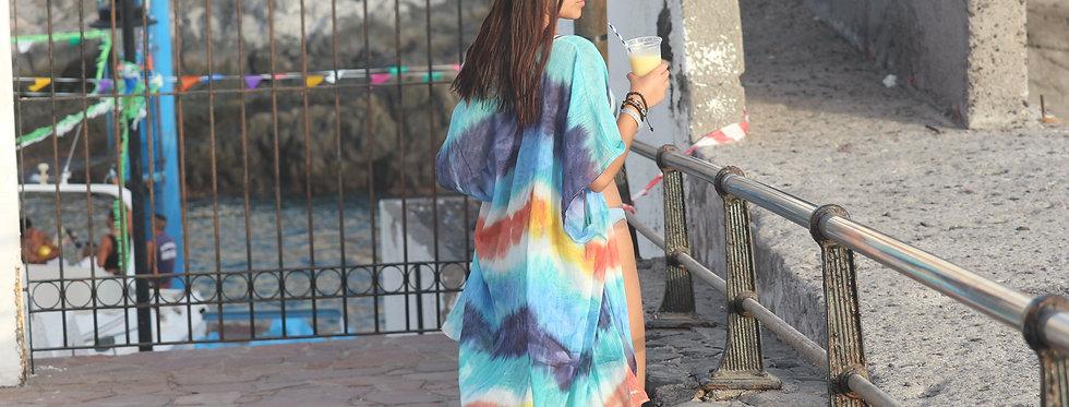 Rainbow bikini cover-up