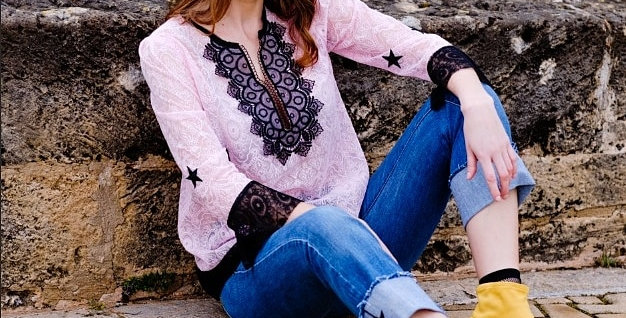 Starry eyes lace tunic