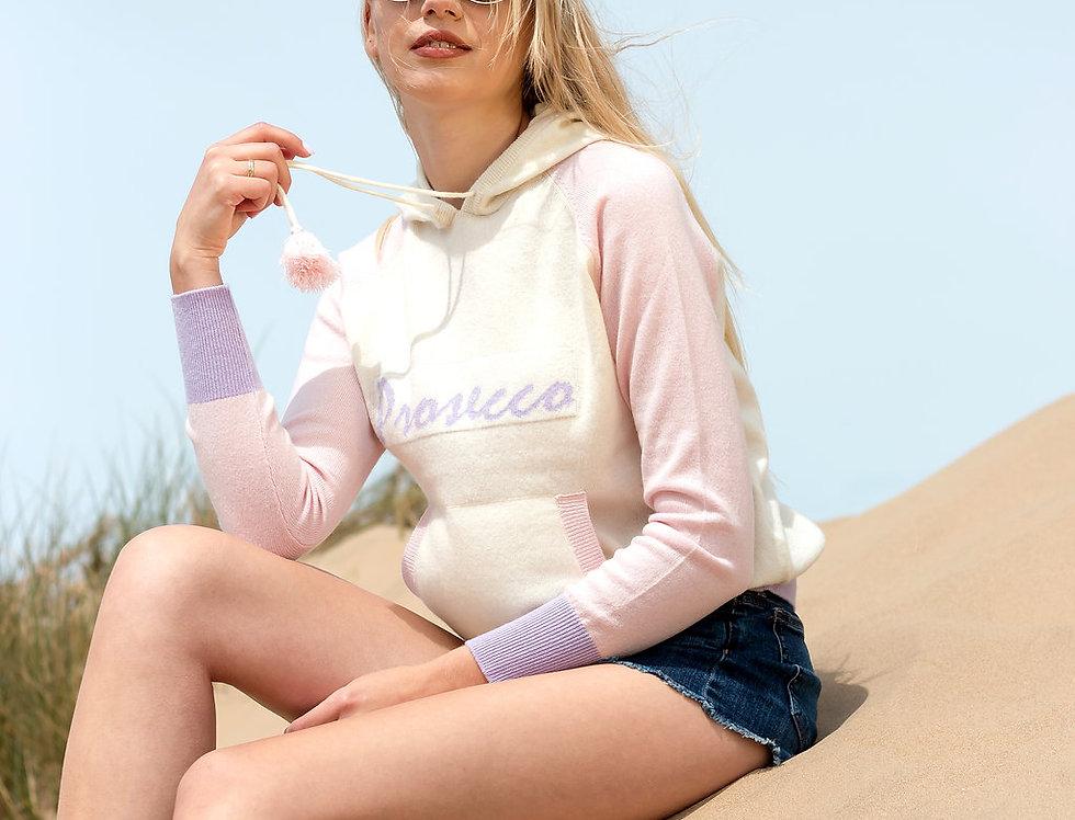 Prosecco cashmere hoodie