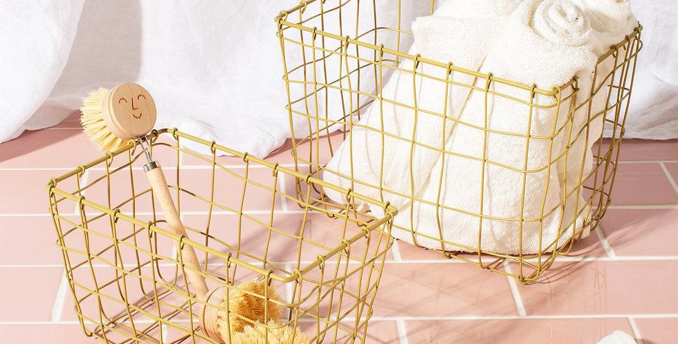 Golden Wire Baskets - Set of 2