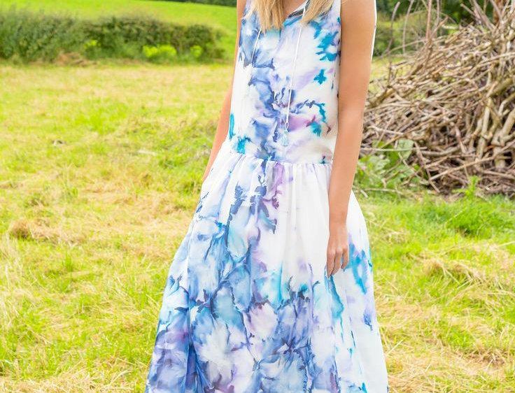 Iris Silk Maxi Dress