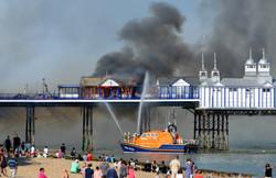 Fire on Eastbourne Pier - News
