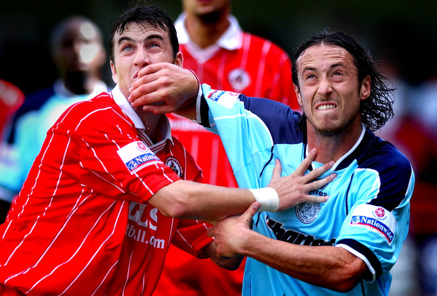 Crawley's Neil Jenkins and Adam Miller