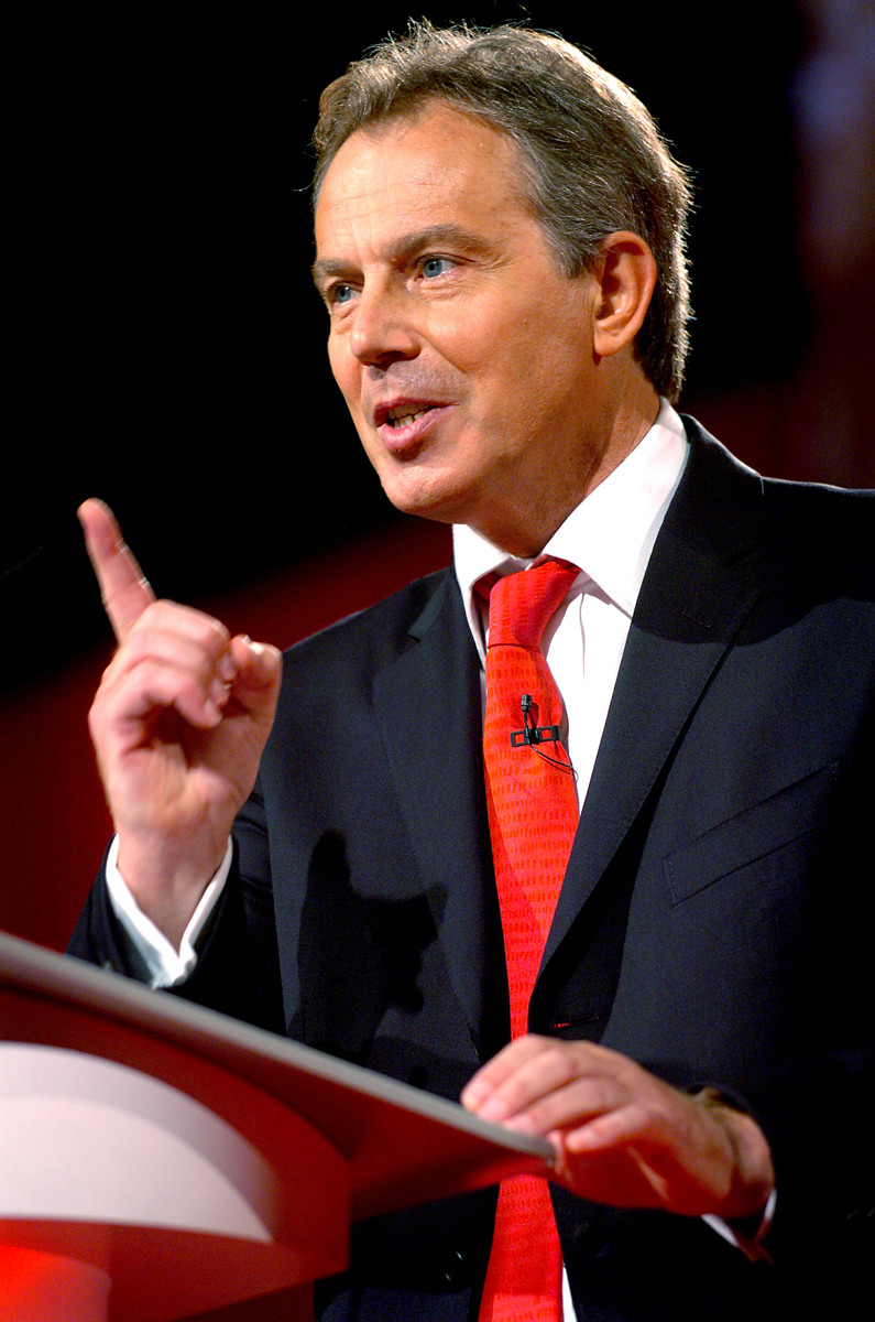 Tony Blair addressing the Labour Party conference in Brighton - News
