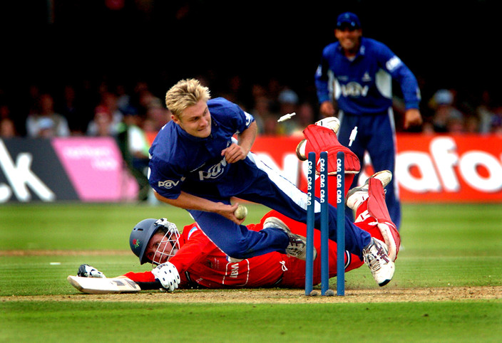 Sussex's Luke Wright in action during the C&G Trophy final at Lord's
