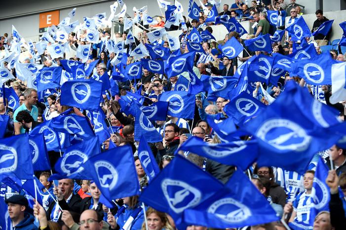 Brighton fans flying the flag