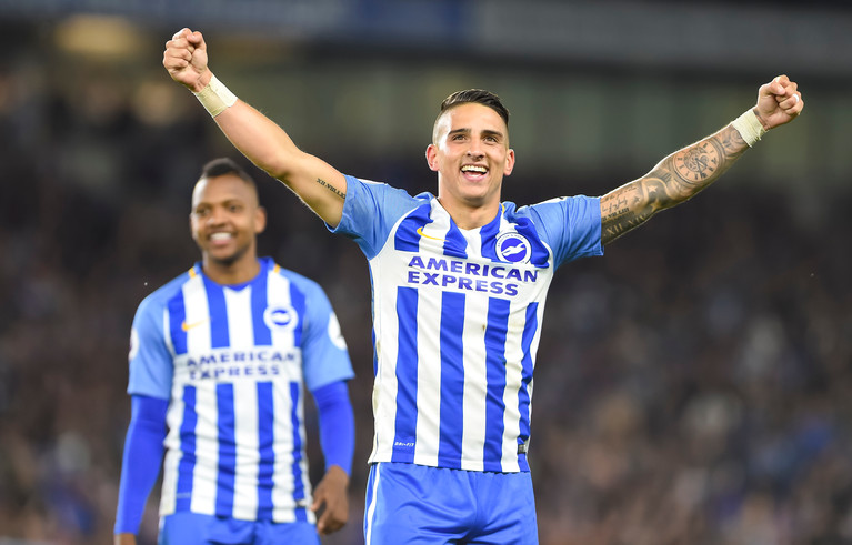 Anthony Knockaert all smiles after helping Brighton to a premiership win