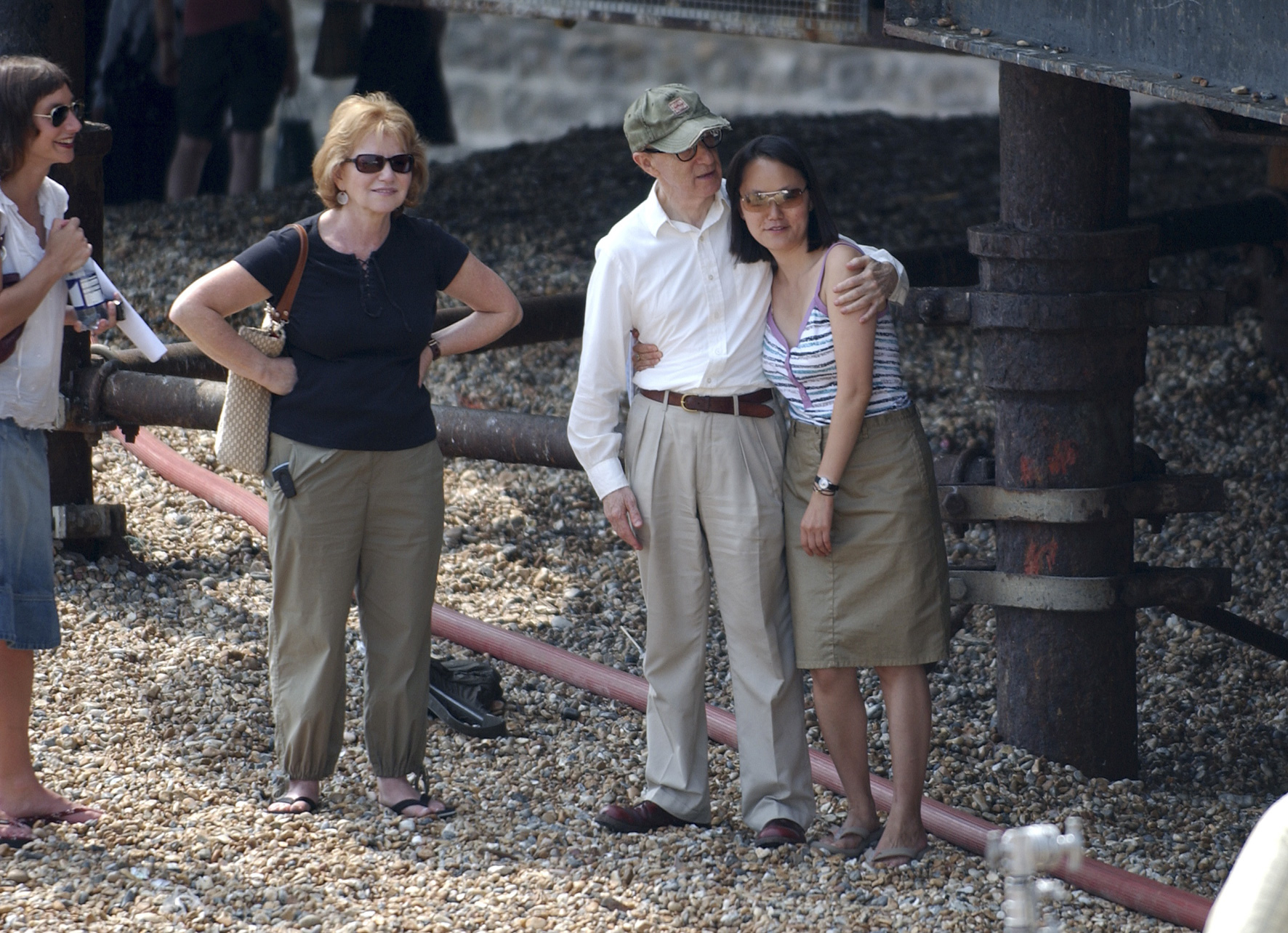 Woody Allen and wife Soon-Yi Previn on location in Brighton filming Cassandra's Dream - News