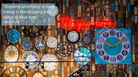 Stopping advertising to save money is li