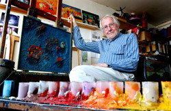 Artist Cyril Mount in his Brighton studio - Weekend feature