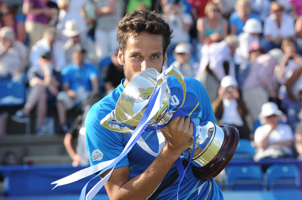 Feliciano Lopez after winning the Aegon International at Eastbourne
