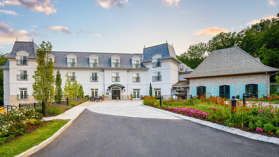 exterior shot of the resort