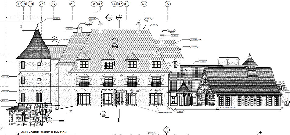 Blueprints and dimensions of our Mirbeau Inn and Spa of Plymouth location.