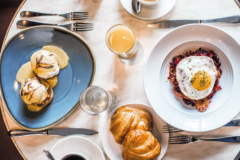 breakfast dining plate