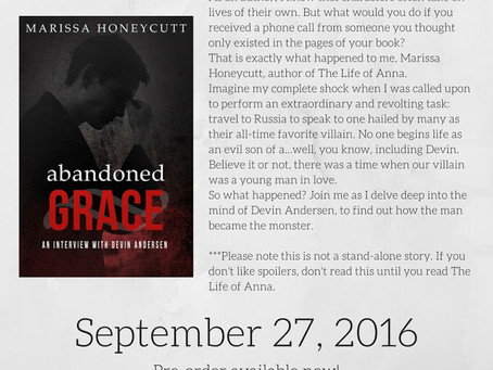 Pre-Orders for Abandoned Grace