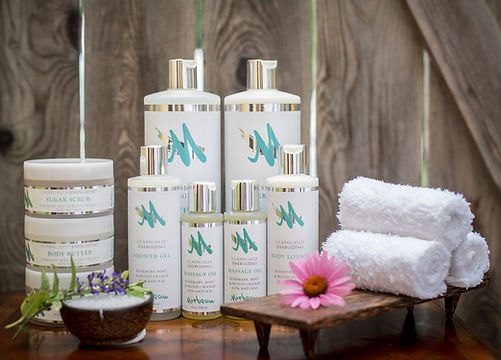Our unique Mirbeau brand lotions, shampoos, conditioners and moisturizers.