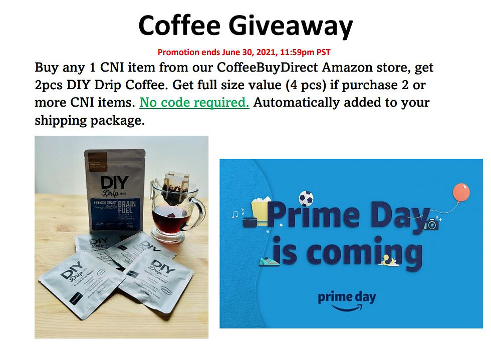 coffee giveaway Amazon Prime Day June 20