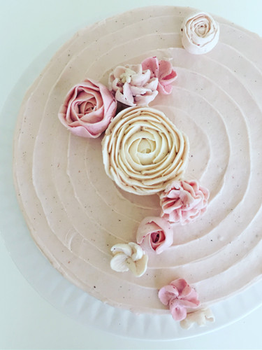 Lined with Buttercream Flowers