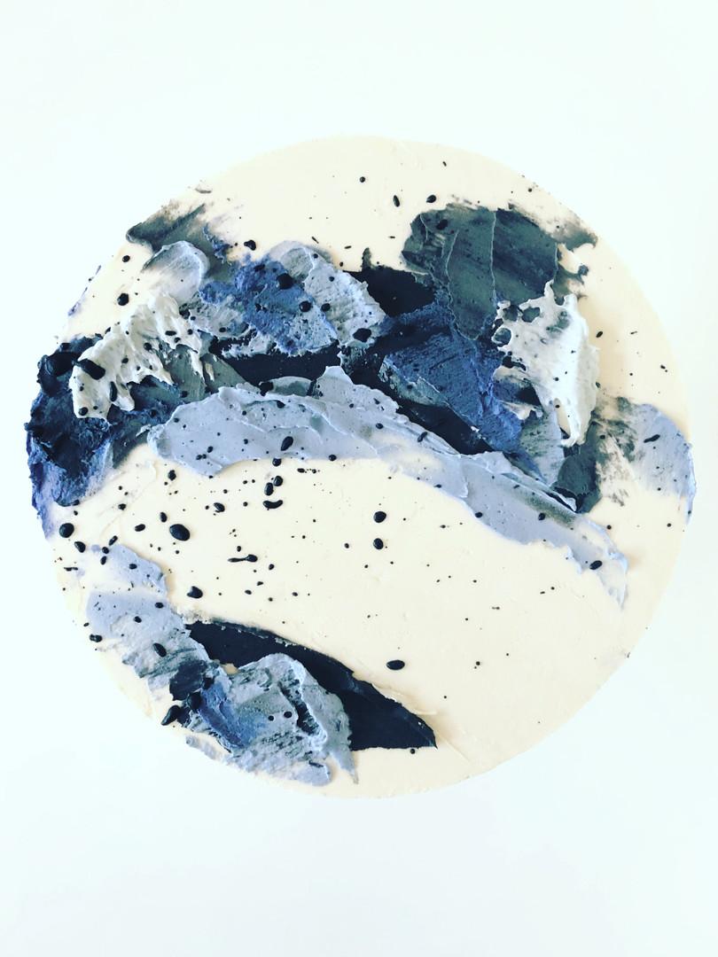 Blue Paint & Splatter