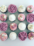 Assorted Textures and Flower Mini Cupcak