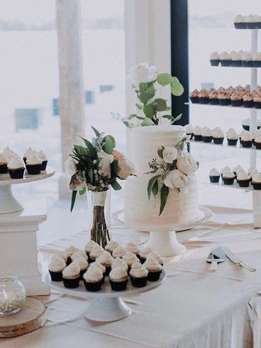 Mini Cupcake Display at a Wedding