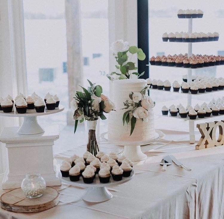 Mini Cupcake Display at a Wedding