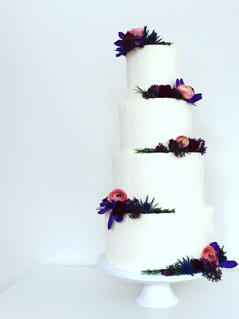 Our Dramatic ~ Pinstripe with Fresh Flowers