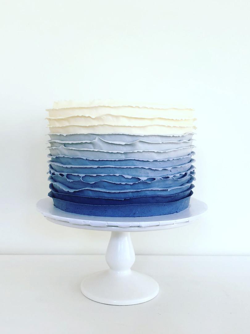 Ombre Blue Ruffles