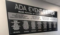 Ada Area Event Center Donar Plaque, Ada,