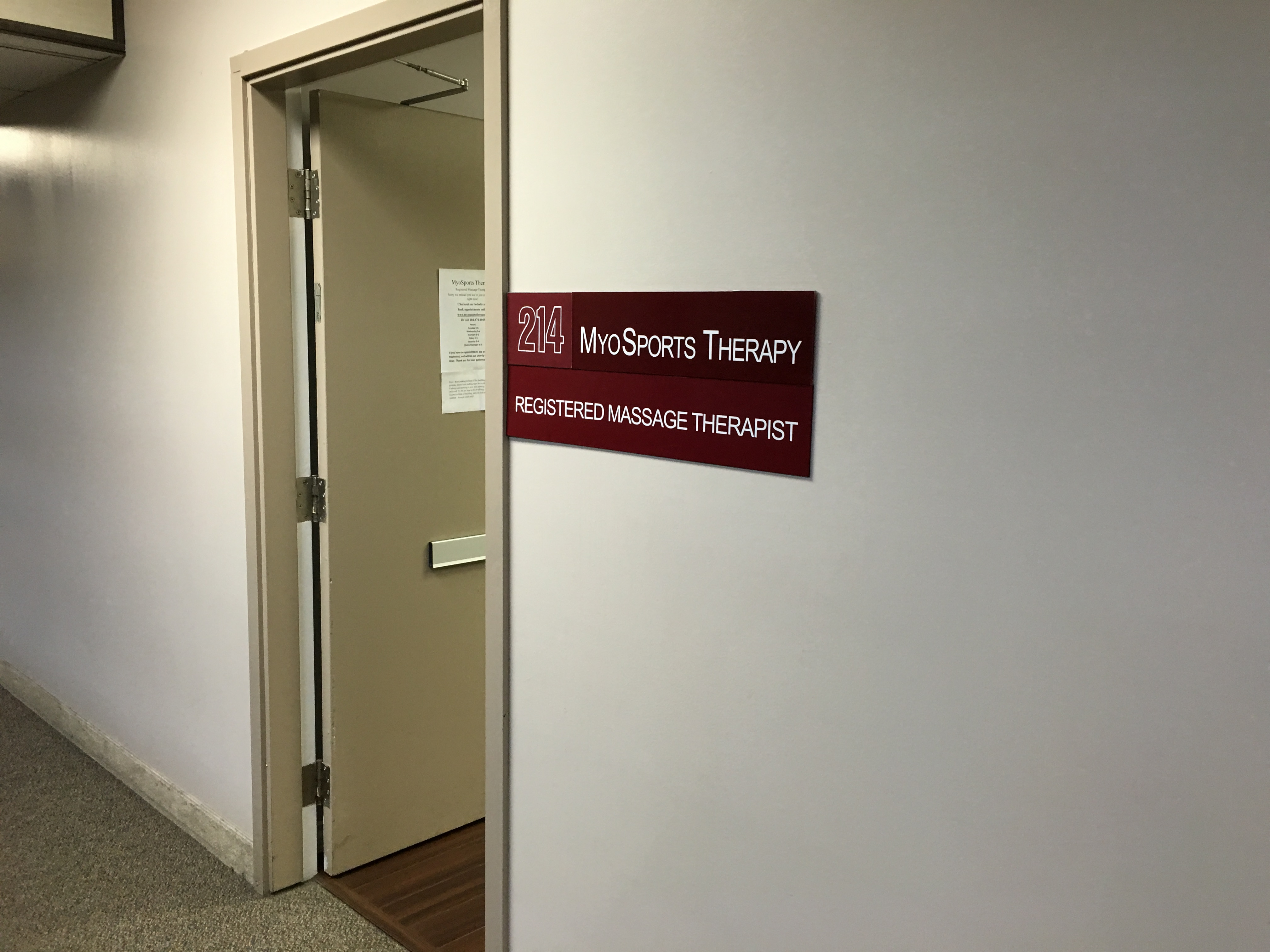 MyoSports Therapy Sign