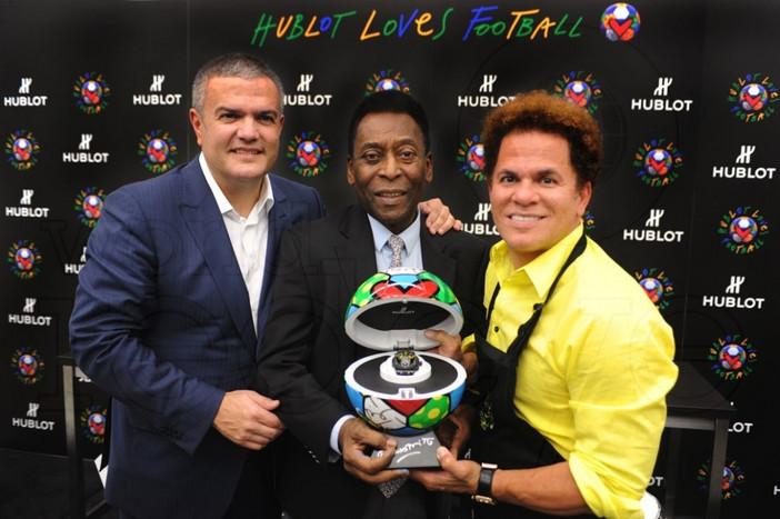 Ricardo Guadalupe, Pele, & Romero Britto, Miami 2014