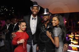 Adrienne & Chris Bosh, Dwyane Wade & Gabrielle Union, Miami, NYE 2012