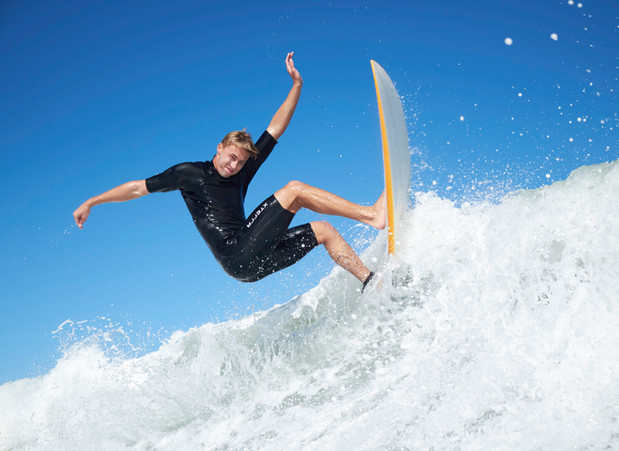 Surfer in Sebastian Inlet, FL