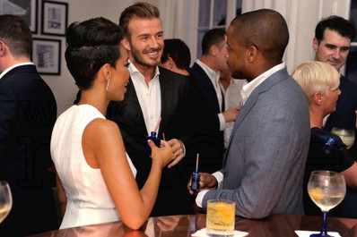 Jazmyn Simon, David Beckham & Dule Hill, Haig Club, Miami 2015