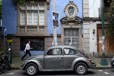 Vocho gris en Condesa | CDMX