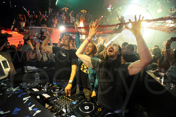 Afrojack, David Guetta, & Steve Aoki at Mansion