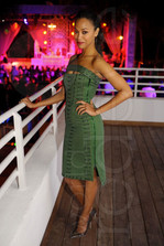 Zoe Saldana, Miami, NYE 2012