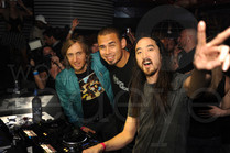 David Guetta, Afrojack, & Steve Aoki at Mansion Miami