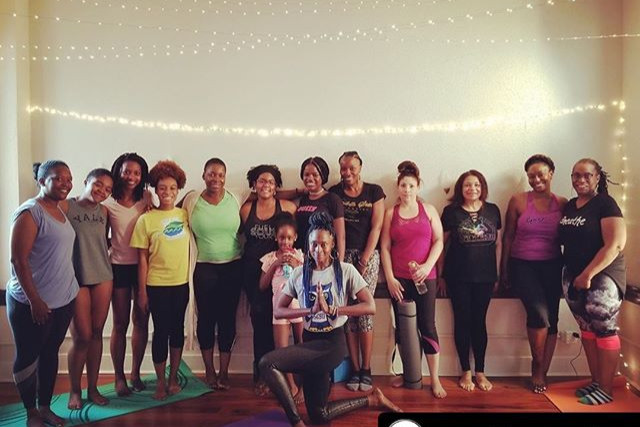 Today's Trap Yoga class at _onevillagehe